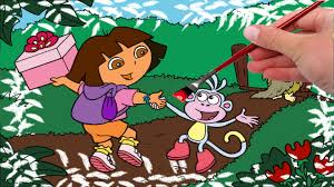 dora coloring book pages dora for kids coloring book coloring game youtube