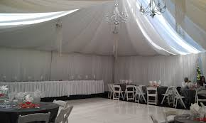 wedding drapery rental chairs