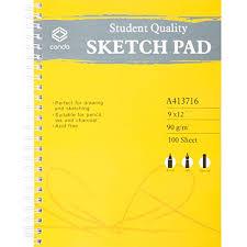 amazon com conda sketch spiral paper pad 9