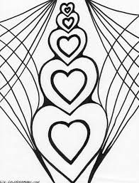 free coloring pages hearts coloring home