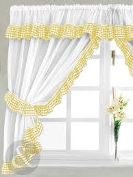 Kitchen Curtains Uk by Gingham Check Yellow U0026 White Kitchen Curtain Curtains Uk