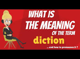 what is diction what does diction mean diction meaning