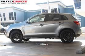 black mitsubishi asx 4wd tyres 18inch rims best 4x4 tires and wheels australia