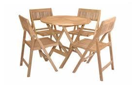 Folding Table Chair Set Windsor Teak Wood Round Folding Table And Chair Set