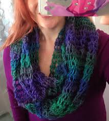 broomstick lace infinity scarf ravelry faux broomstick lace infinity scarf pattern by