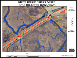 Stony Brook Map Stony Brook Salt Marsh Restoration