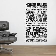 Family House Rules Family House Rules Wall Sticker By Wallboss Wallboss Wall