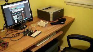 Wall To Wall Desk Diy by Building A Wall Mounted Desk Youtube