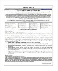 Hospitality Job Resume by 9 Hospitality Curriculum Vitae Word Pdf Free U0026 Premium Templates