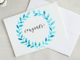 congratulations bridal shower congratulations card congrats card bridal by penpaperinkco get