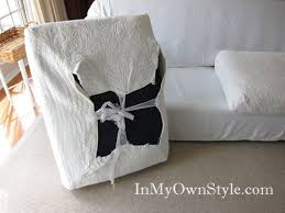 Chair Cushion Cover How To Cover A Chair Or Sofa With A Loose Fit Slipcover In My