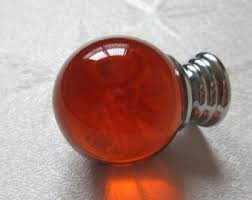 Red Glass Cabinet Knobs Amber Glass Knobs Etsy