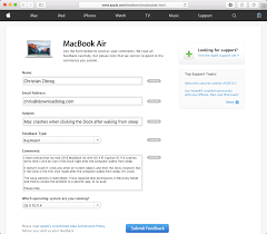 sample bug report how to submit feedback and bug reports to apple apple feedback web screenshot 002