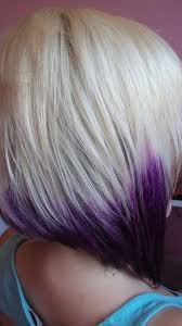 salt and pepper hair with lilac tips bleached blonde bob hairstyles with purple ends hairstyles
