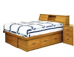 amish mission bed with bookcase headboard from dutchcrafters amish