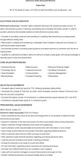 Clothing Store Sales Associate Resume Electronic Sales Resume Resume For Your Job Application