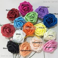 roses wholesale 50 wedding flowers foam roses with stems for wedding bouquet