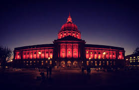 sf city hall lights sf pinklights the san francisco examiner