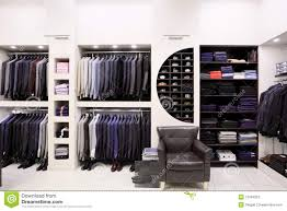 shop in shop interior stylish men u0027s clothes in shop stock image image 15304323