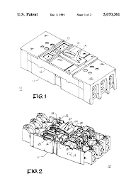 patent us5070361 molded case circuit breaker operating mechanism