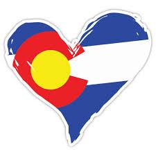 State Flag Of Colorado Colorado Heart Sticker Colorado Flag Heart Colorado Sticker