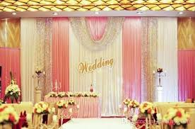 wedding backdrop design malaysia 3m 6m ice silk white color wedding drape curtain pleated wedding