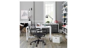 Desk With Filing Cabinet Drawer Tps Carbon Rolling File Cabinet In Office Furniture Reviews Cb2