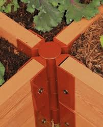 Bed Frame Joints Stackable Raised Bed 4 Way Corner Joints For 1 Thick Boards