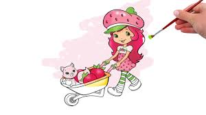 strawberry shortcake coloring pages game 2 youtube