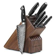 Kitchen Knives Set Reviews Kramer By Zwilling Stainless Damascus Knife Block Set 7 Piece