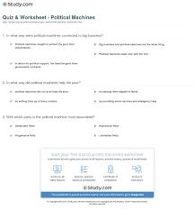 quiz u0026 worksheet political machines study com