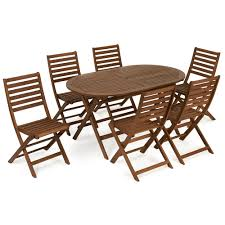 Wooden Patio Table And Chairs Wilko Fsc Wooden Patio Set 6 Seater At Wilko