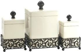 kitchen canisters canada ceramic kitchen canisters set of 3 attractive ceramic canisters in a