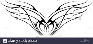 wing ornaments silhouette stock vector illustration vector