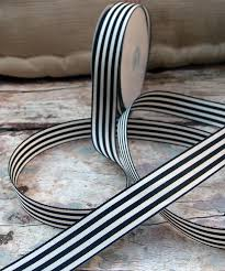 black and white striped ribbon black striped ribbon