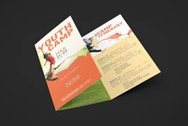 youth camp tri fold brochure template inspiks market