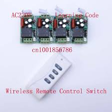 wireless remote control light switch 220v 10a 4ch led lights for home automation wireless rf remote