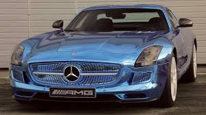 black and teal car 2014 mercedes benz sls amg back in black and electric ignition
