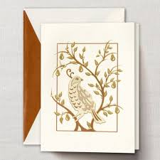 crane partridge in a pear tree greeting cards paperstyle