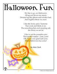 Childrens Halloween Poem Halloween Fun By Ada Clark Woo Jr Kids Activities