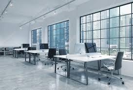 bureau lumineux lieux de travail dans un loft modern lumineux ouvre espace bureau