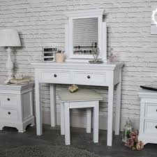 small dressing table with mirror and stool white dressing tables melody maison
