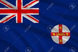 New South Wales Flag Vlajka Nového Jižního Walesu Nsw Je Stát Na Východním Pobřeží