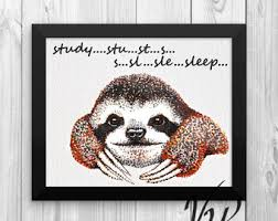 Sloth Meme Jokes - sloth jokes etsy