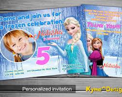 frozen birthday card etsy