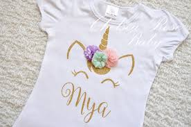 Personalized Halloween Shirts Pink And Gold Unicorn Birthday Shirt Personalized Unicorn