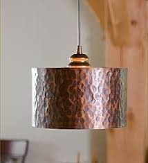 Copper Kitchen Light Fixtures In Antique Hammered Copper Pendant Lighting With Adjustable