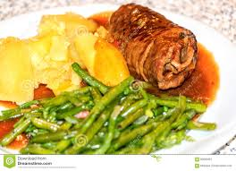 cuisine en allemand plat allemand traditionnel le rindsroulade image stock image du