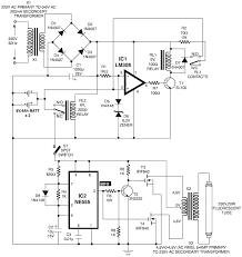 automatic switching on emergency light circuit schematic