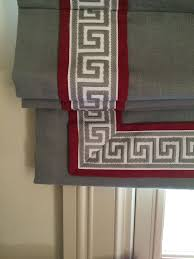 Printed Fabric Roman Shades - image result for 3 sided band on roman shades outside mount